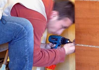 Montaggio mobili in legno