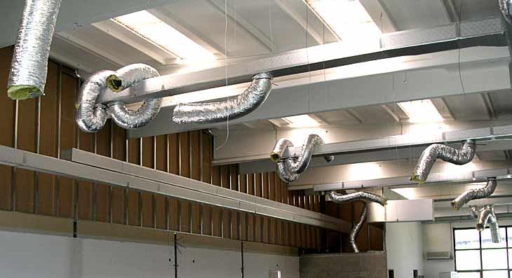 Installazione di impianto di aria condizionata in un cantiere privato. Servizio appalti.