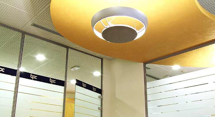 Progetto illuminotecnico di illuminazione controsoffitto
