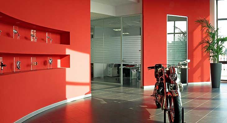 Progetto di spazio esposizione presso uffici aziendali