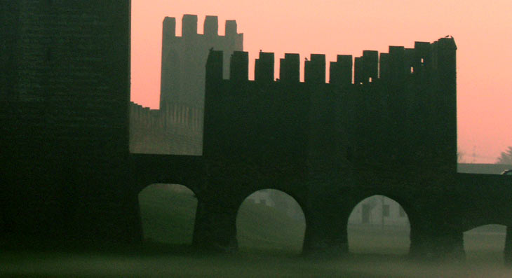 Le mura di Montagnana, in Veneto
