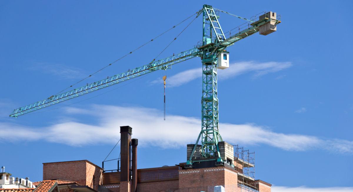 Cantiere per lavori di riqualificazione condominio